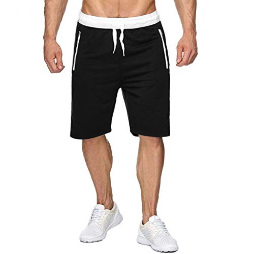 Buy Respctful✿Men's Casual Elastic Waist Harem Training Jogger Sport Short Baggy Pants 3/4 Workout...