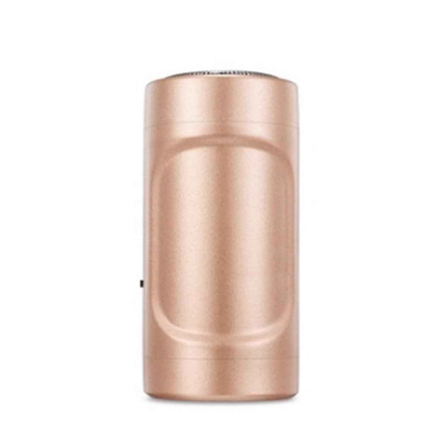 暖炉リマーク同封するミニシェーバーUSBアップルアンドロイドミニエピレータ屋外旅行懐中電灯ミニポケット(真鍮)