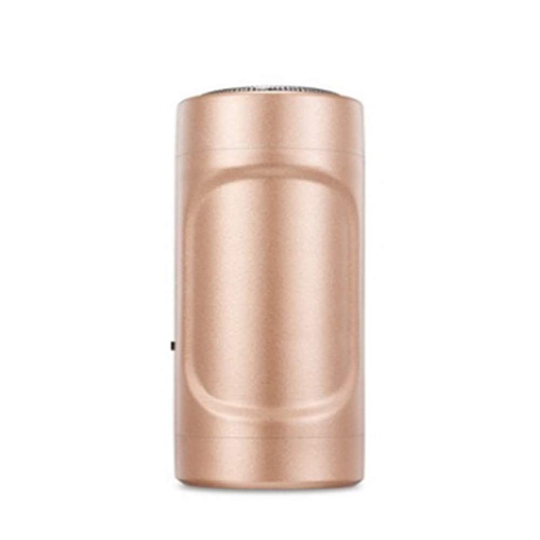 債務者デクリメント対人ミニシェーバーUSBアップルアンドロイドミニエピレータ屋外旅行懐中電灯ミニポケット(真鍮)