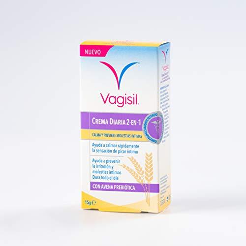 Vagisil Crema Diaria 2 en 1 Calma y previene molestias íntimas, 15g, 1 unidad