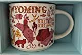 Starbucks Kaffeetasse mit WYOMING Been There Serie Across the Globe Collection, 400 ml