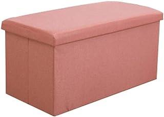 Folding Storage Stool Storage Seat Storage Box Large Capacity Multi-Color Optional WSWQWL (Color : H, Size : 40×25×25cm)