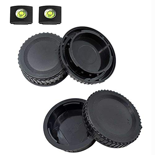 Front Body Cap and Rear Lens Cap Cover for Nikon D7500 D7200 D7100 D7000 D5600 D5300 D5200 D5100 D3500 D3400 D3300 D3200 D3100 D850 D810 D800 D750 D600 D90 D80 More Nikon F Mount DSLR and Lens