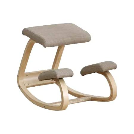 3D バランスチェア ラウンド 通常 腰痛対策 姿勢改善 椅子 コンピューターチェア 自然に背筋が伸びるゆらゆら腰楽ニーリングチェア