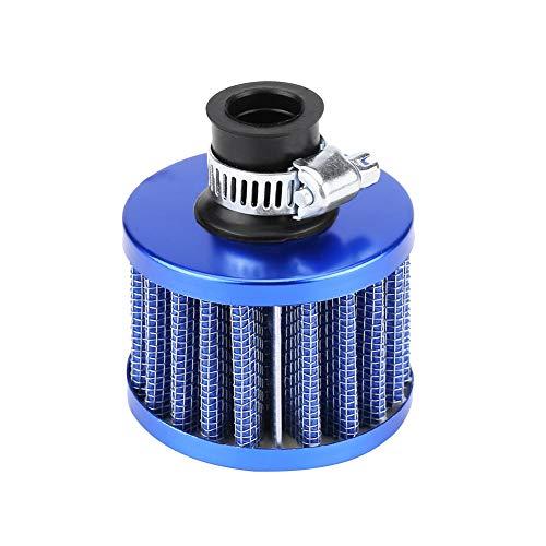 Filtro de aire para coche EVGATSAUTO, Kit de filtro de entrada de aire frío Universal para coche de 13mm/0,5 pulgadas, respiradero de cubierta de ventilación del cárter(Azul)