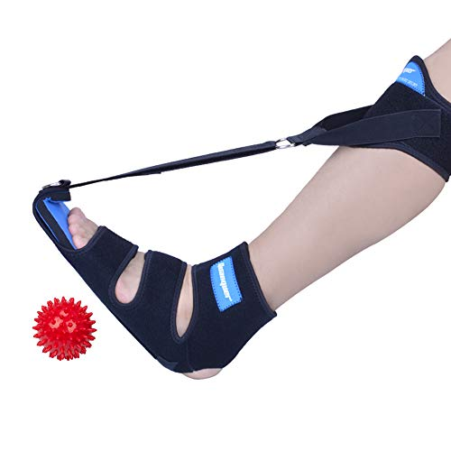 Plantar Fasciitis Night Splint Drop Foot Brace, Ankle Support with Adjustable Elastic Strap for Effective Relief from Plantar Fasciitis, Achilles Tendonitis and Calf Pain