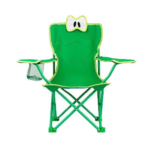AOIWE Sillas Plegables Silla de Camping de Camping for niños Plegable Titular de Peso Ligero portátil de Playa del sillón con la Taza, Verde