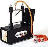 Forja de gas propano - DFPROF2+1D   con 2 quemadores DFP (80,000 BTU) 1 puerta   para herreros, fabricantes de cuchillos para el trabajo de forja   quemadores con válvulas de bola de gas Utilice 1 o 2