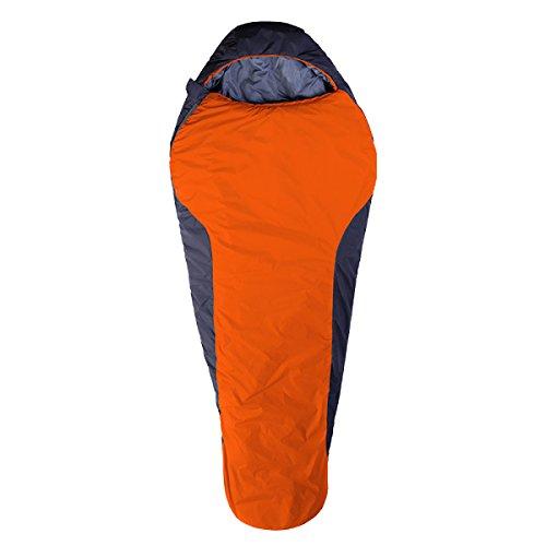 Xin.S 3 Saison En Plein Air Momie Peut être épissée Sac De Couchage Imperméable à L'eau Léger Respirant Confortable Adapté Pour Le Camping La Randonnée (bleu Et Rouge),Orange-(190+30)*83cm