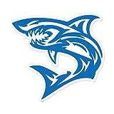 AK Wall Art Shark Tribal Tattoo Blue Vinyl Sticker - Car Phone Helmet - Select Size