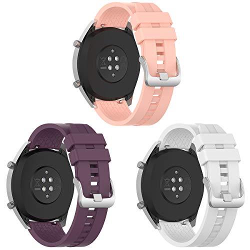 Syxinn Compatible con 22mm Correa de Reloj Huawei Watch GT 2 46mm/Huawei GT Sport/Active/Elegant/Classic Banda Silicona Deportiva Pulsera para Galaxy Watch 46mm/Gear S3 Frontier/Classic