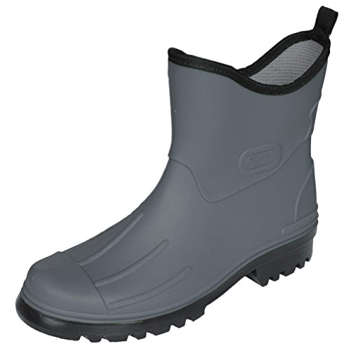 Bockstiegel Herren Jungen Gummistiefel Peter aus Polyvinylchorid (PVC) Regenstiefel Stiefelette, Farbe:grau, Größe:43 EU