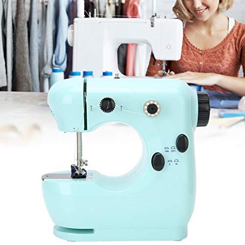 Cuque Máquina de elaboración doméstica portátil de Material Premium de Rendimiento Estable pequeño, máquina de Coser de Mesa, Apertura de Hebilla de Costura(European regulations)