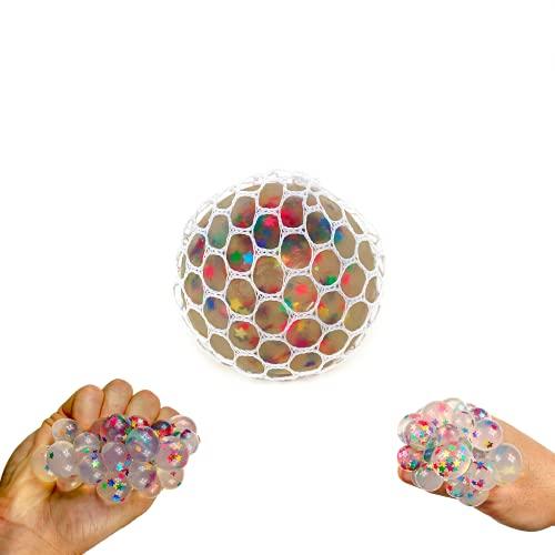 Bolas Exprimibles Antiestrés para Niños y Adultos, Juguete Sensorial, Accesorio para Aliviar y Fortalecer la Mano, Diseños Variados (Estrella)