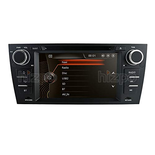 hizpo Android 10 Quad Core 7 Pulgadas Stereo Multi-Touch Screen Radio CD Reproductor de DVD 1080P La Pantalla de Video se Adapta a BMW E90 / 2006-2011 E91 / 2006-2011 E92 / 2006-2011 E93 / 2007-2012