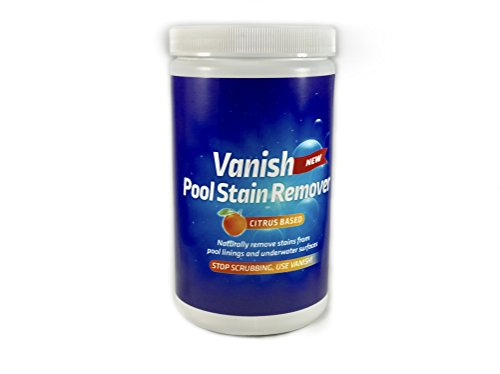Bosh Chemical Vanish Pool & Spa Stain Remover (2LBS)- Natural Safe Citrus Based, Works Excellent on Vinyl, Fiberglass, and Metals, Removes Rust and Other Tough Stains