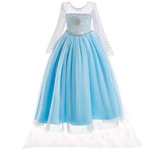 ELSA & ANNA UK1stChoice-Zone Princesa Disfraz Traje Parte Las Niñas Vestido (3-4 Años, DRESS-204)
