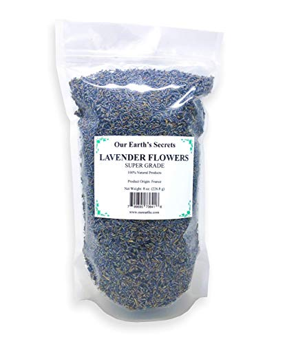 OUR EARTH'S SECRETS Lavender Flowers - 1/2 Pound - Super Grade