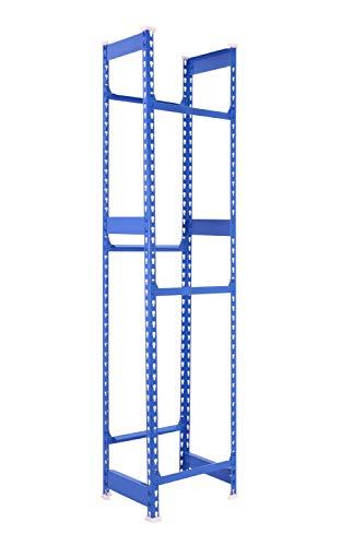 KIT SIMONBOTTLE - BOTELLERO METÁLICO 3 ESTANTES 1800x400x300 mm AZUL. Estantería para cajas ideal para hostelería y comercio.