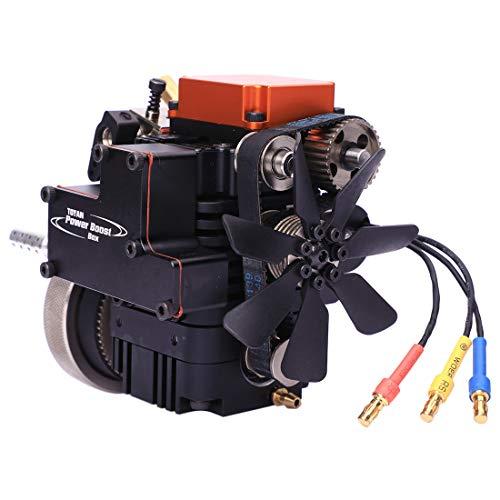 Seciie Viertaktmotor Bausatz, Methanol Motor Modell, TOYAN 4 Stroke Engine für 1:10 1:12 1:14 RC Auto/Boot/Flugzeug - FS-S100A Modell