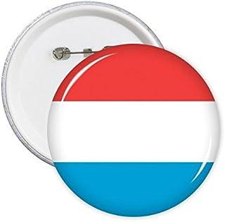 DIYthinker Luxembourg Drapeau National Europe Symbole Pays Mark rond Motif Pin Badge Bouton 5Pcs XXL