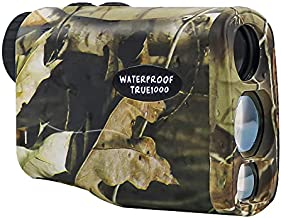 LaserWorks Range Finder for Hunter, IPX 5 Waterproof True 1000 Yards to Trees Shooting Laser Rangefinder for Hunting with Slope and Bow Mode, Camo Hunting Accessories Free 2 Batteries (Camoflage)