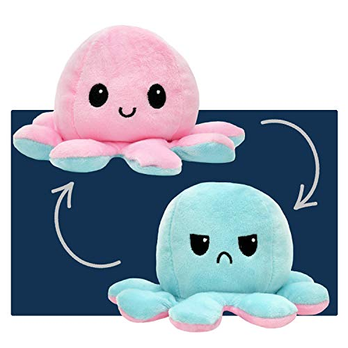 smartpillow Oktopus Kuscheltier - Reversible Octopus Plüschtier - niedliche doppelseitige Flip Octopus Geschenke für Kinder Mädchen Jungen - in 4 Farben erhältlich