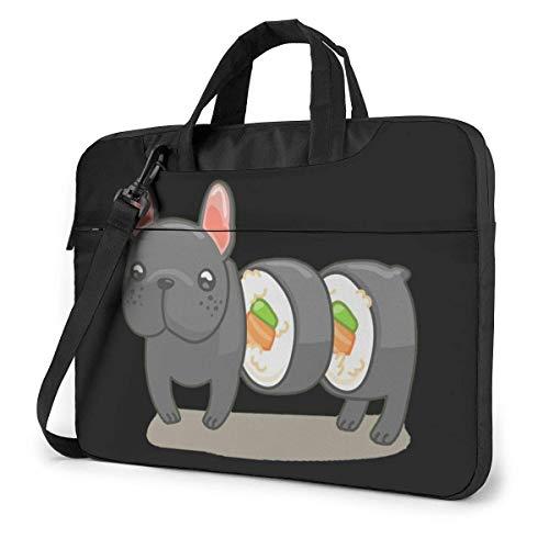 Frenchie Sushi Roll Quakeproof Laptop Bag Briefcase Shoulder Messenger Bag Satchel Tablet Bussiness Carrying Handbag