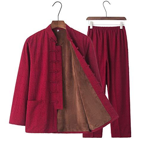 BAJIE Tai chi Uniforme Algodón Alto Calidad Wushu Kung fu Ropa Niños Adultos Marcial Letras ala Chun Traje (Color : T, Size : Medium)