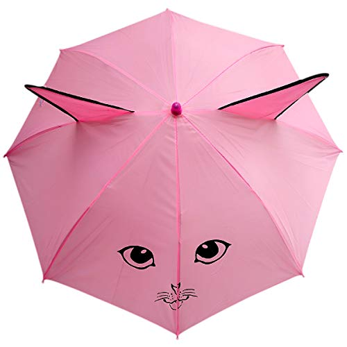 Rainpopson™ Boy's and Girl's Animal Design Ear Umbrella (Multicolour)