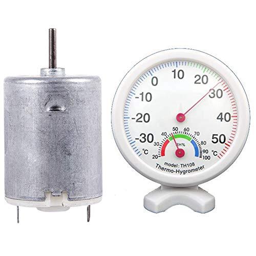 Vrttlkkfe Higrómetro termómetro de humedad temperatura/medidor de temperatura y 8000RPM 9V 68MA motor cilíndrico magnético de alto esfuerzo de torsión