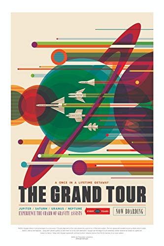 Visions Of the Future NASA - The Grand Tour Jupiter Saturn Uranus Neptune Poster 60x91.5cm