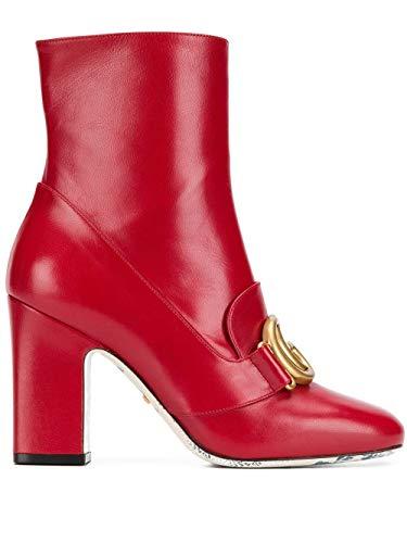 Luxury Fashion | Gucci Dames 549694C9D006433 Rood Leer Enkellaarzen | Seizoen Outlet