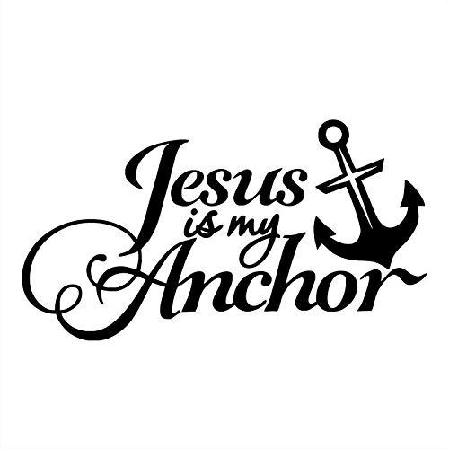 Etiqueta engomada del coche reflexivo ancla barco cruz Jesús Jesús es mi ancla (Color : Black)