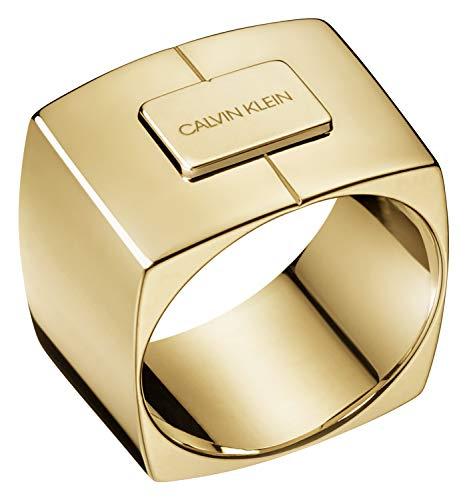 Calvin Klein Ring Assert Goldfarben KJAHJR100108 Ringgröße 57/18,1