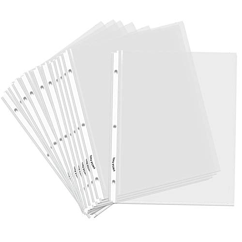 Clear Sheet Protectors for 3 Ring Binders - 50 Pack Letter Size Top Load 8.5' x 11' Page Holders Highlight Transparent OS0150