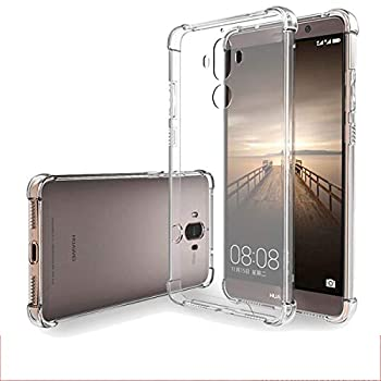 iCoverCase Compatible with Huawei Mate 9 Case Crystal Clear Soft TPU Shock Absorption Bumper Slim Thin Cover Case -Clear