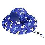 DHDHWL Sombrero Niños Anti-Ultraviolet Niños Sombreros de Primavera y Verano Sandalias de bebé Sandalias Transpirables Thin Boys Sun Hats Beach Viajes Playa (Color : Blue, Size : S 3 5Y)