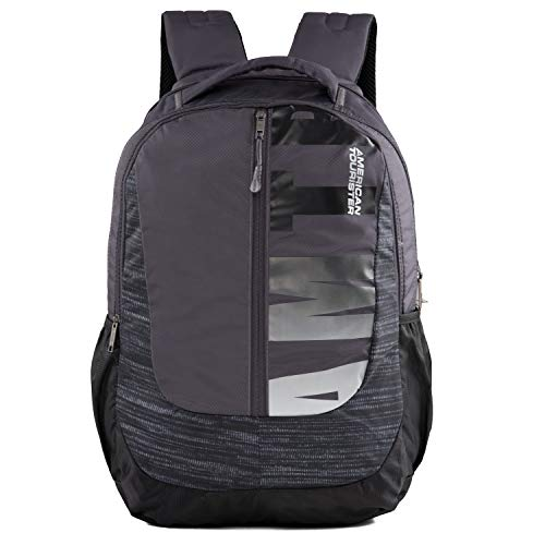 American Tourister Polyester Backpack (Grey)