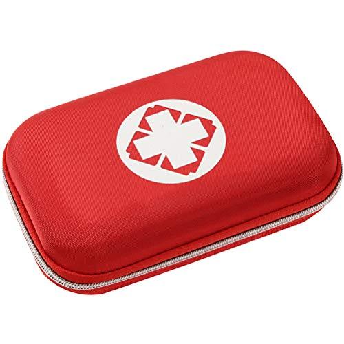 Fovely Mini-Erste-Hilfe-Set, tragbares Outdoor-Erste-Hilfe-Set Leere Box Notfall-Überlebensrettung Eva Oxford-Koffer für Heimcamp-Reisen