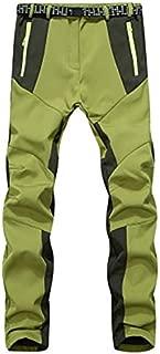 BEESCLOVER Women Winter Fleece Soft Shell Outdoor Pants Waterproof Climbing Hiking Trousers Windproof Hiking Trousers Sportswear