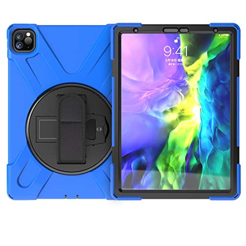 Tablet Protective Case Pirate series Three-in-one Shatter-Resistant Shell for iPad Pro11'2020, Drop-Proof, Dust-Proof, Shock-Proof, Splash-Proof 360 Degree Rotating Multi-Function Grip Bracket