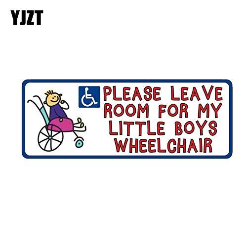 A/X Sticker de Carro 15,2 CM * 5,7 CM Divertido niño discapacitado discapacidad Movilidad Silla de RuedasPVC Coche Pegatina 11-00092
