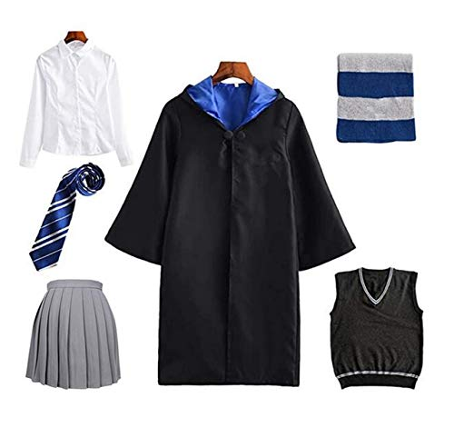 ZXC-Harry-Costume-Kids-Adult-Cloak-Ladies-Gryffindor-Slytherin-Ravenclaw-Hufflepuff-Fan-Articles-Outfit-Set-Cape-Tie-Shirt-Hermione-Skirt-Vest-Scarf-Boys-Girls-Magical-Robe-Wizard-Fancy-Dress-Costume