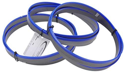 SMI - Juego de 3 cintas de sierra de metal bimetal M 42, dimensiones 2480 x 27 x 0,90 mm, 8/12 dientes por ejemplo para Optimum, Epple, Holzmann, Bernardo, Thomas