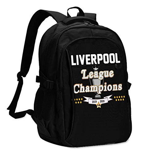 Travel Laptop Backpack, League Champions 2020 Travel Laptop Backpack School Bag Outsdoors Sling Bag with USB Charging Port AntiTheft Men's and Women's Backpacks