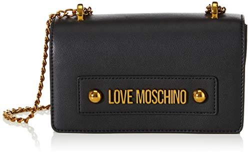 Love Moschino Damen Jc4022pp1a Umhängetasche, Schwarz (Nero), 7x13x27 Centimeters