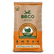 Beco Free Range Turkey with Pumpkin & Spinach - 2kg - Natural & Grain Free Complete Dry Puppy Food