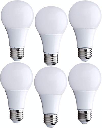 Bioluz LED 60 Watt Light Bulb, LED Light Bulbs 60 Watt Replacement, Uses Only 9 Watts, Warm White, Non-Dimmable, A19 LED Light Bulb, 6-pack