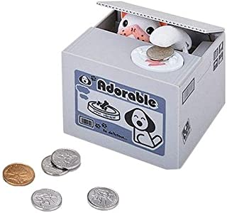 Dazzling Toys Coin Dog Piggy Bank Battery Operated Kids Dog Stealing Money Saving Bank Box